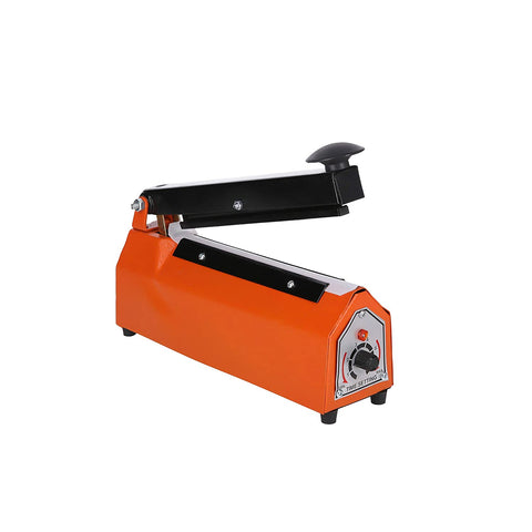 "JD9 8 inches Heavy Metal Duty Heat Sealer for Plastic Bag, Heat Sealer Machine 8"" inch, Impulse Sealer, Impulse Sealer Machine, Packing Machine (Orange)"