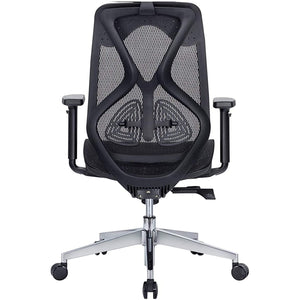 JD9 Medium Back Ergonomic Chair with Advanced Syncro Tilt Mechanism with Multi Position Lock for Office & Home (Black)