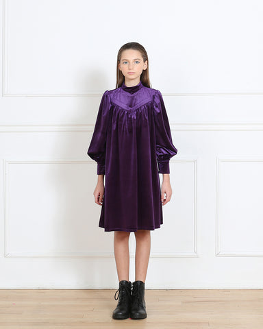 Rachel dress (eggplant purple)