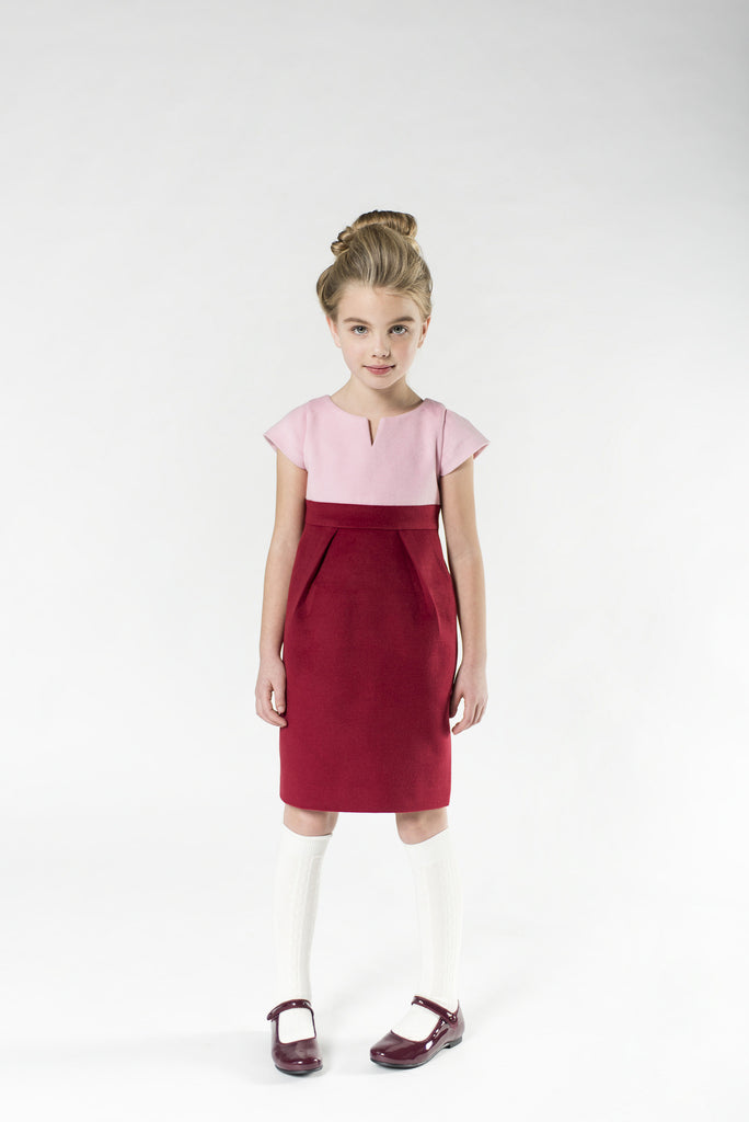Elizabeth (wool rose/ruby-red)