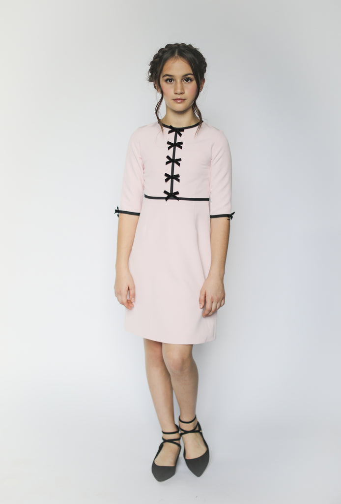 Anais bow dress (blush pink)