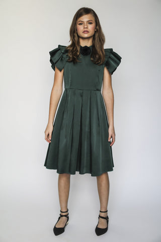 Rosalind dress (hunter green)