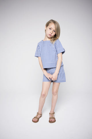 Charlotte (Gingham Royal Blue)