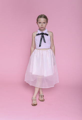 Louise (carnation pink gingham and skirt)