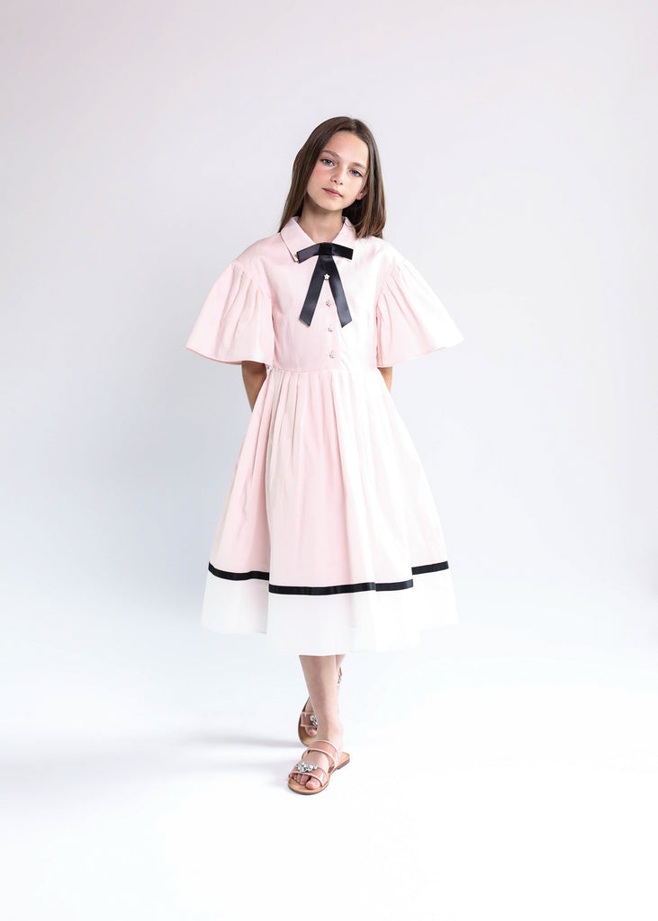 Lea dress (pink/white)