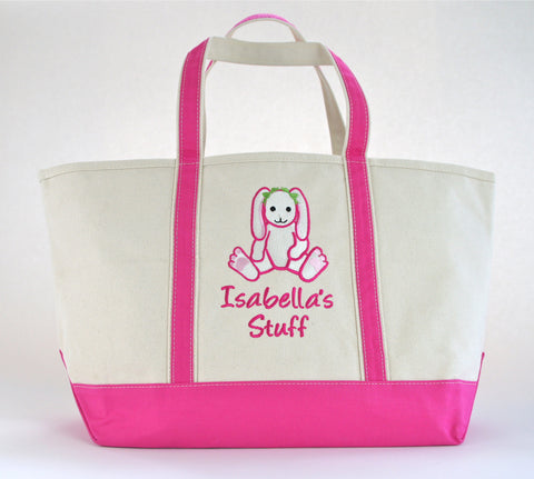Tote Bag with a Bunny