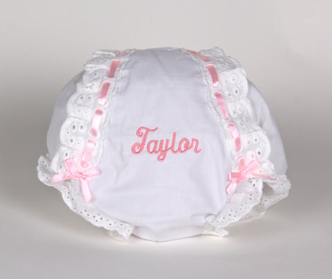 Diaper Cover with Satin Ribbons