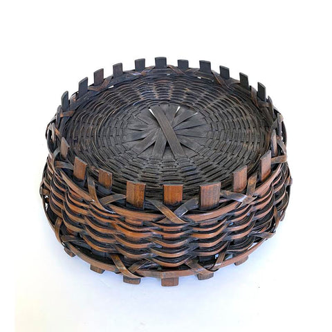 Japanese Basket for Ikebana, The Art of Flower Arrangement, Bamboo, Taisho Period