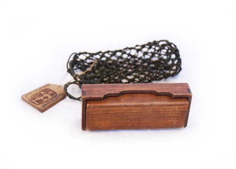Wooden Message Delivery Box with Netting, Edo Period