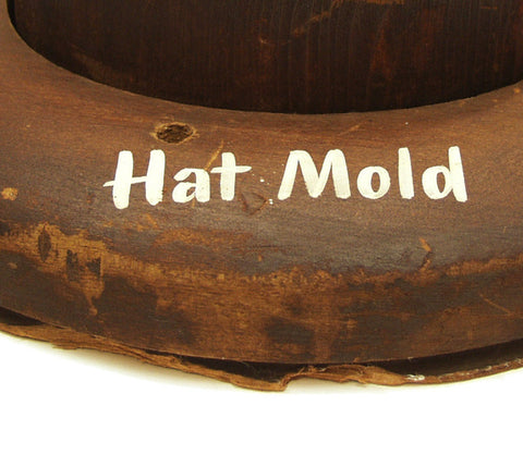 Vintage American Wooden Hat Mold