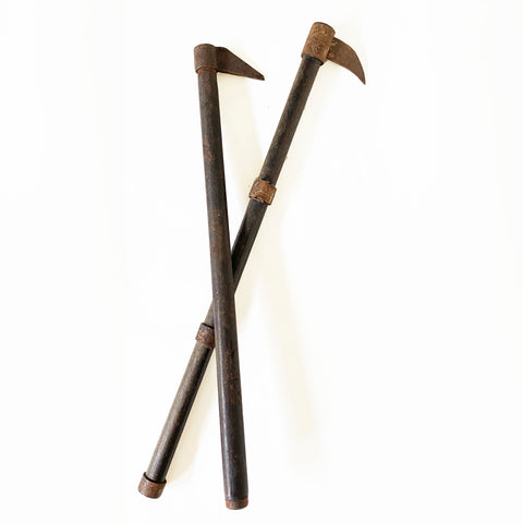 Fireman tools, Japanese, Wood and iron, Meiji period