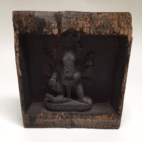 Hindu God Ganesh Sculpture, Encased in Box, India, 19th Century