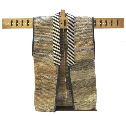 Antique Japanese Sodenashi Vest, Saki-ori, Late Meiji Period