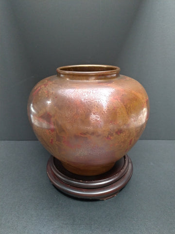 Murashido Bronze Ovoid Shaped Vase, Circa 1900's