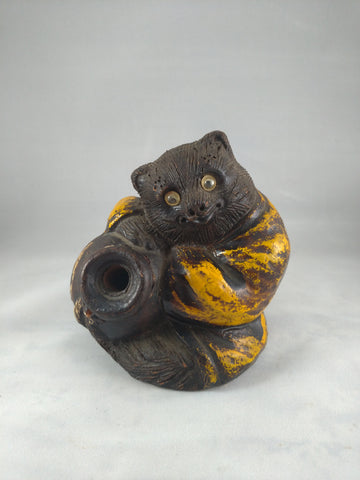 Tanuki, Japanese raccoon Dog, clay, Meiji