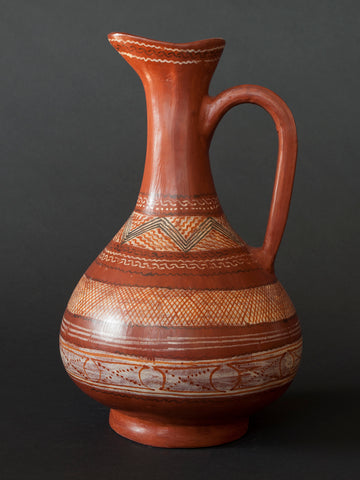 Brown Pitcher by Emilio Molinero, Circa 1940's