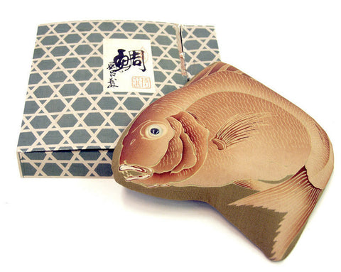 Antique Japanese Tai Fish Furoshiki, Late Meiji Period