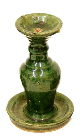 Antique Chinese Ceramic Oil Lamp