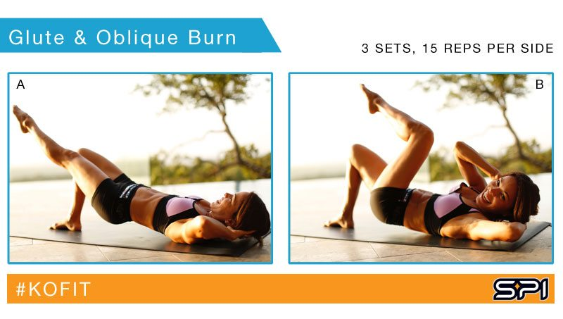 KOfit's Glute and Oblique Burn is a fast way to tone your stomach and get that bubble butt you've always wanted