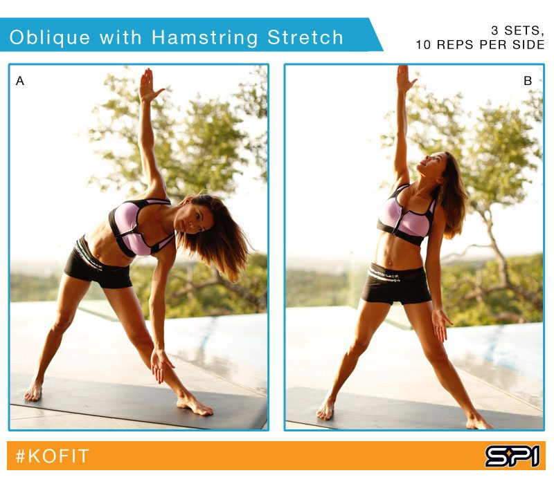 Stretch out your hamstrings and obliques after a core workout - KOfit
