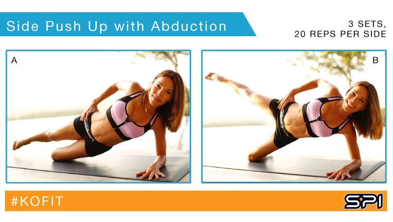 Side Push Up with Abduction - Tone your abs and glutes with this 2-in-1 exercise from KOfit