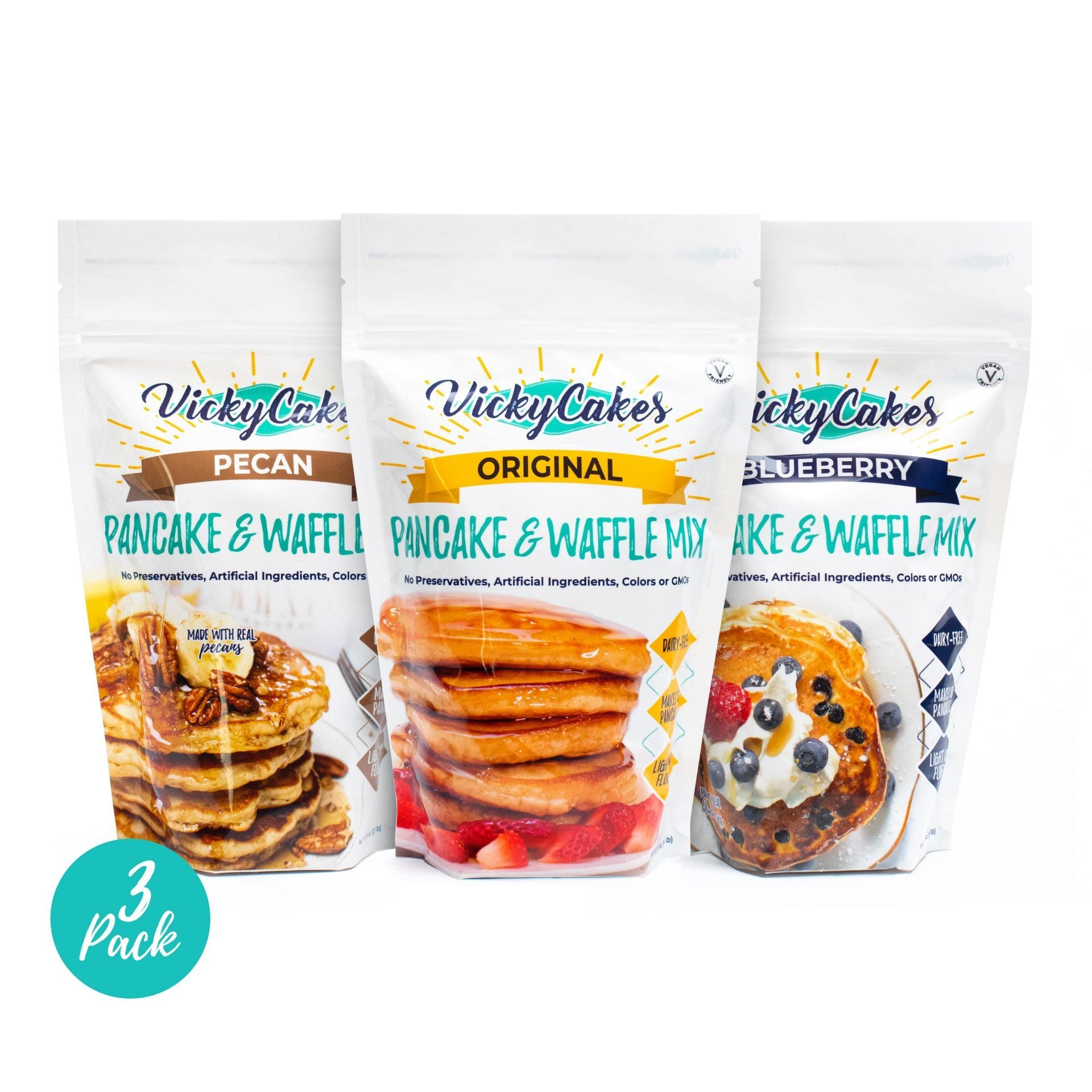Variety Bundle Pack of 3 - Original, Blueberry, Pecan