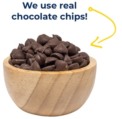 bowl of real chocolate chips