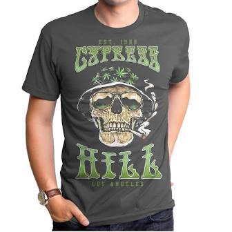 Cypress Hill Smoking Skull Men's T-Shirt