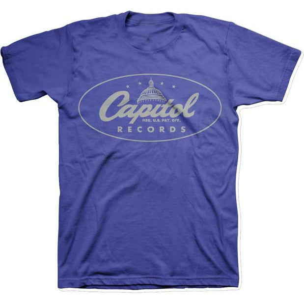 Capitol Records Blue Oval Logo Men's Small T-Shirt