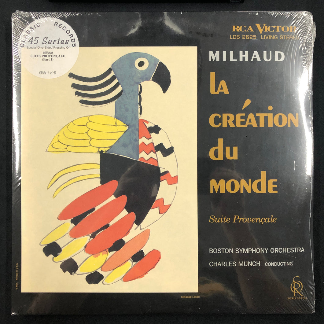 Charles Munch / Milhaud - La Creation Du Monde, Suite Provencale - Classic 45 Single Sided LP