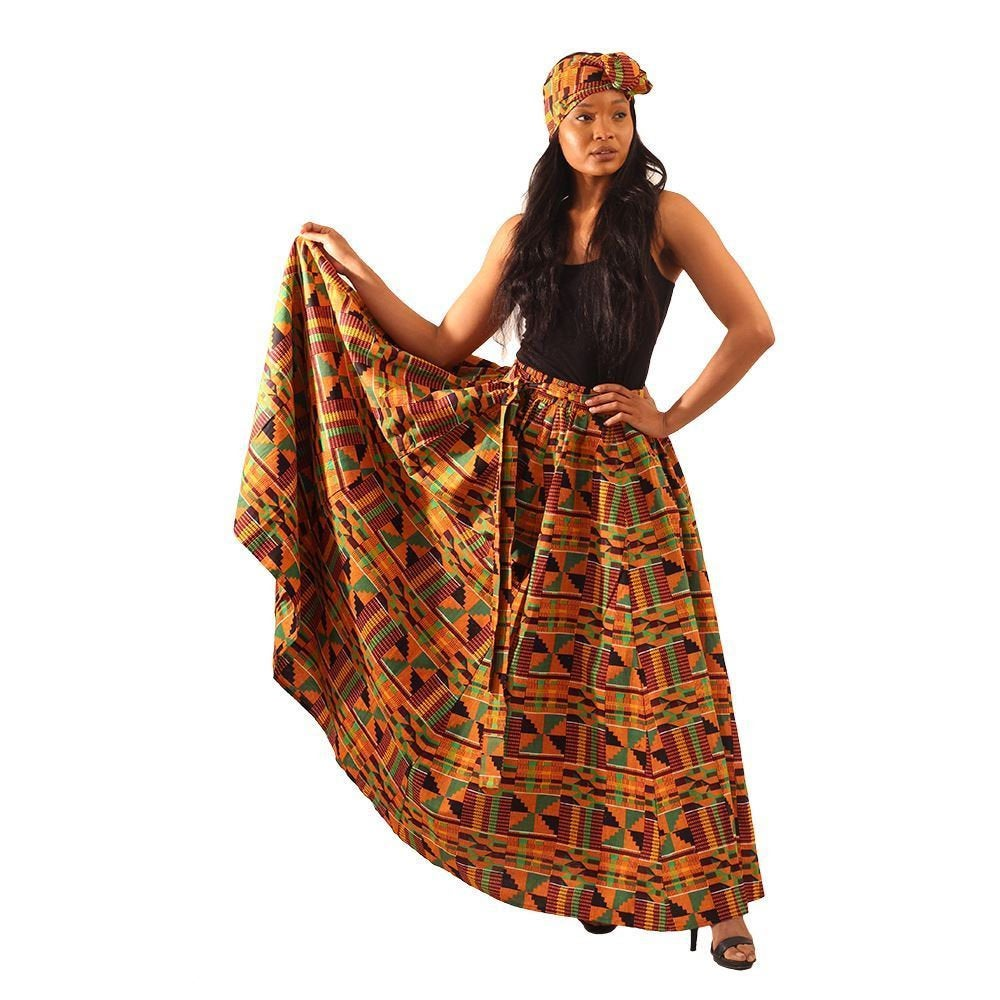 Kente Long Skirt