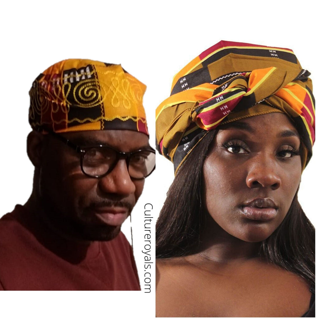 Kente Headwraps & Embroidery Hat