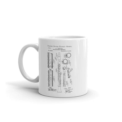 Clarinet Patent Mug - Patent Mug, Clarinet Mug, Musician Mug, Music Art, Musician Gift, Band Director Gift, Woodwind, Wind Reed