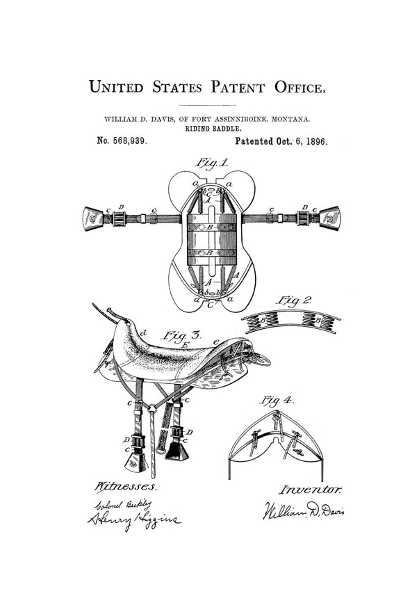 Horse Riding Saddle Patent - Patent Print, Wall Decor, Horse Art, Horse Decor, Equestrian Patent, Equestrian Decor