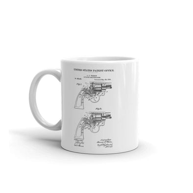 Smith and Wesson 1894 Revolver Patent Mug - Patent Mug, Gun Mug, Revolver Mugt, Smith Wesson Patent, Smith & Wesson Revolver