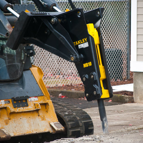 MB10 MOUNTED BREAKER WITH SKID STEER 4-POSITION CRADLE BRACKET