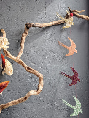 Paper Garland Sparrow Multi Color