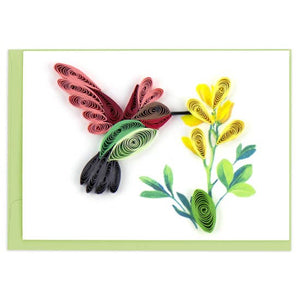Mini Quilling Card- Hummingbird