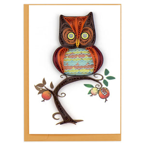 Owl Quilling Card