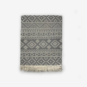 Tribal Turkish Towel- Grey