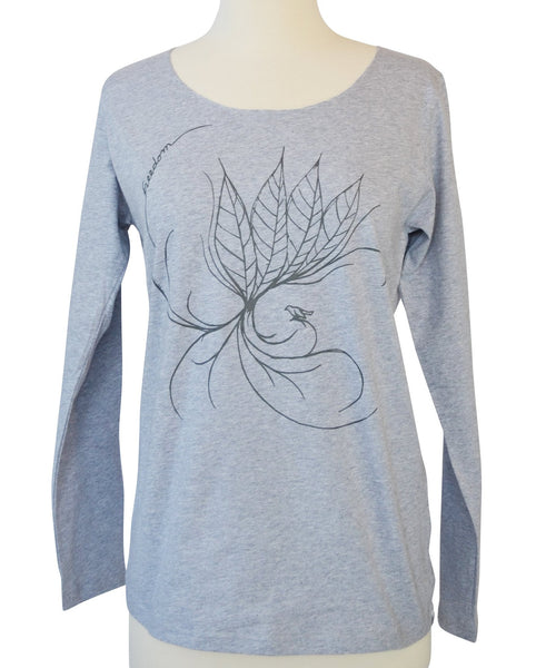 Women's Grey Leaf T-Shirt