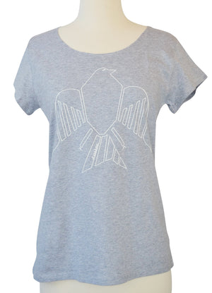 Women's Grey Bird T-Shirt