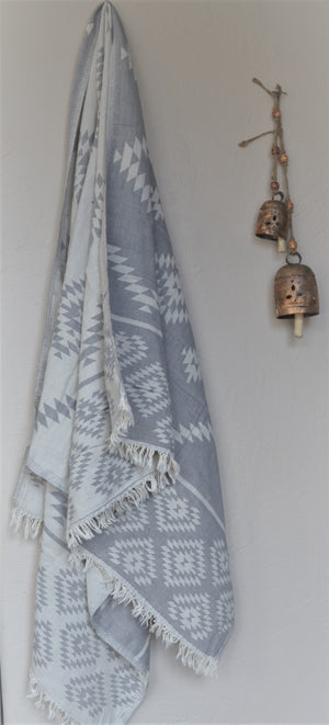 Tribe Turkish Towel-Grey