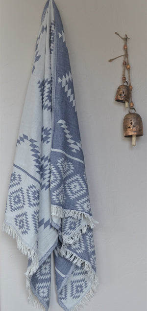 Tribe Turkish Towel-Blue