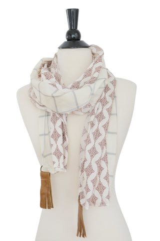 Pan Scarf- Plaid/Rose