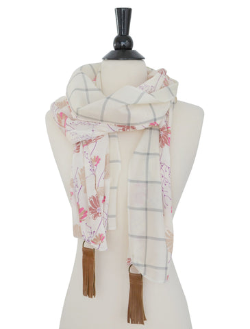 Pan Scarf- Floral/Plaid