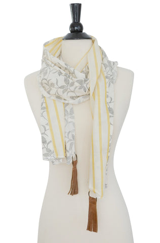 Pan Scarf- Floral/yellow