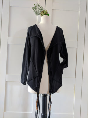 Black Tassel Cardigan