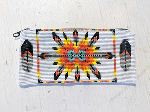 Sun Burst Coin Purse - White