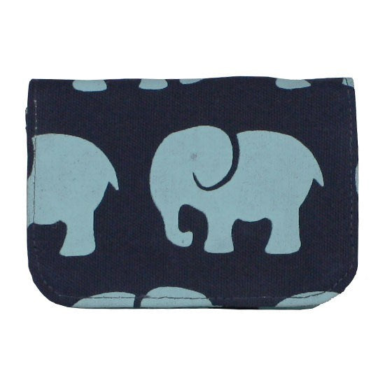 Cotton Card Holder-Elephant Prints